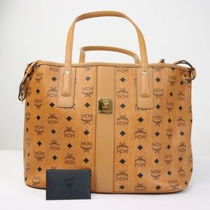 MCM Medium Liz Reversible Shopper - Cognac
